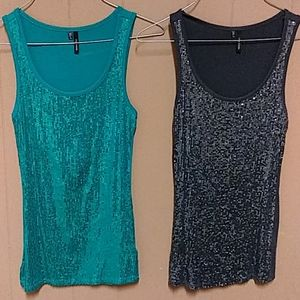 2- Maurice's sequins tank tops women's extra small